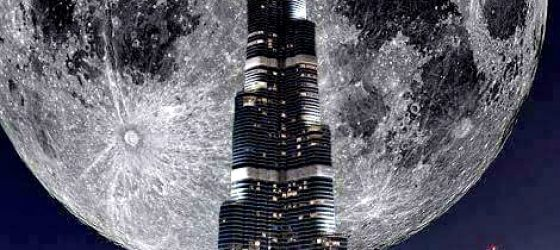 Super Moon Dubai
